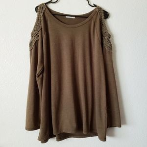 Molly Isadora Knit Cold Shoulder Blouse